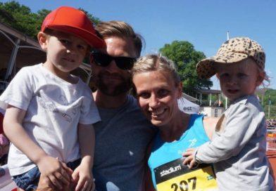 Tvåbarnsmamman Johanna Bäcklund siktar mot Stockholm marathon